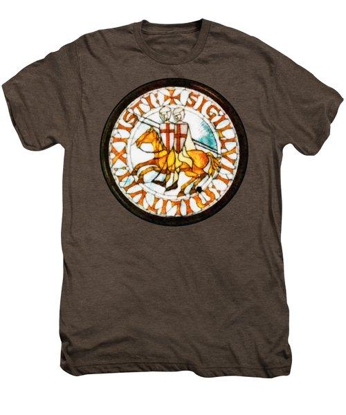 Seal Of The Knights Templar Men's Premium T-Shirt by John Springfield