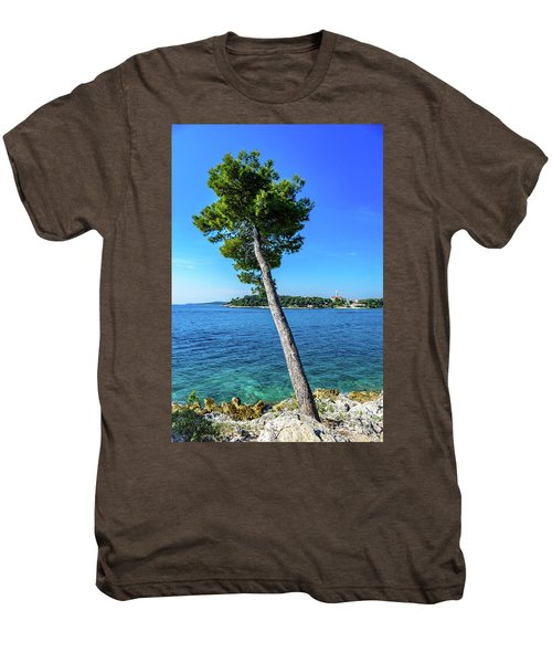 Seaside Leaning Tree In Rovinj, Croatia Men's Premium T-Shirt