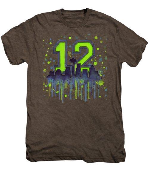 Seattle Seahawks 12th Man Art Men's Premium T-Shirt