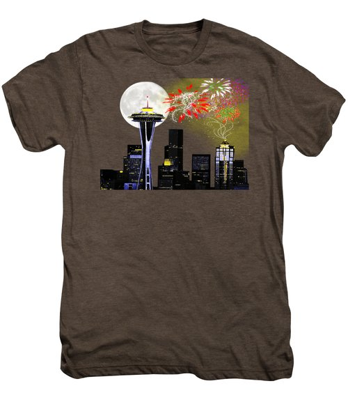 Seattle Skyline Men's Premium T-Shirt