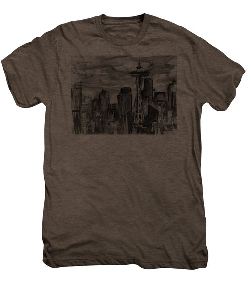 Seattle Skyline Space Needle Men's Premium T-Shirt