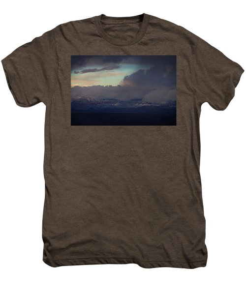 Sedona At Sunset With Red Rock Snow Men's Premium T-Shirt