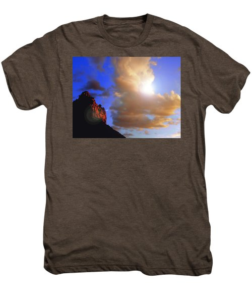 Sedona Mountain Cloud Sun Men's Premium T-Shirt