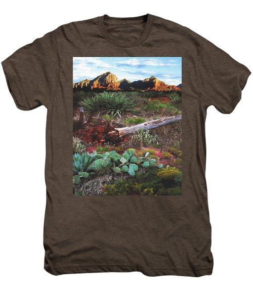 Sedona Mountain Sunrise Men's Premium T-Shirt