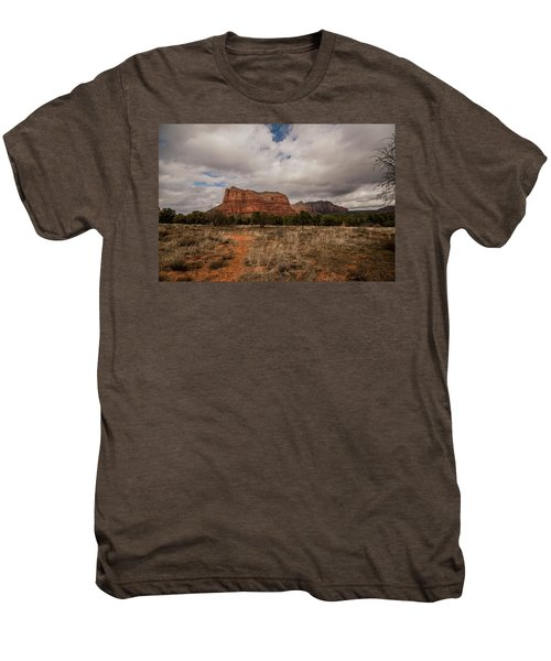 Sedona National Park Arizona Red Rock 2 Men's Premium T-Shirt by David Haskett