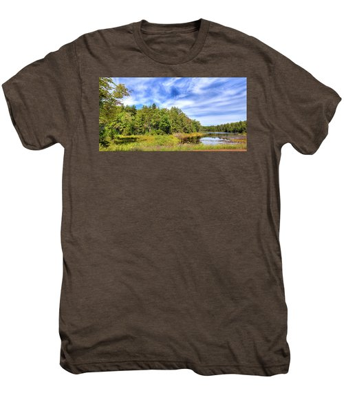Men's Premium T-Shirt featuring the photograph Serenity On Bald Mountain Pond by David Patterson