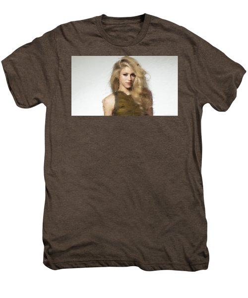 Shakira Men's Premium T-Shirt by Iguanna Espinosa