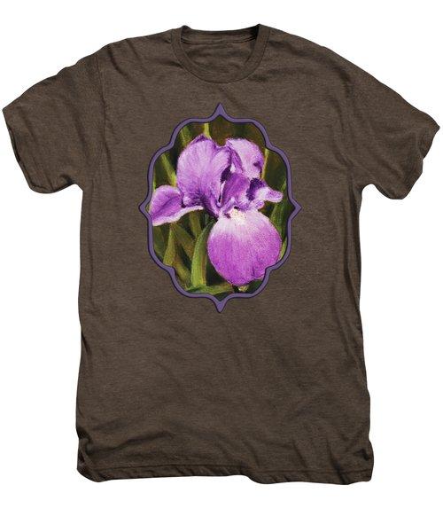 Single Iris Men's Premium T-Shirt by Anastasiya Malakhova
