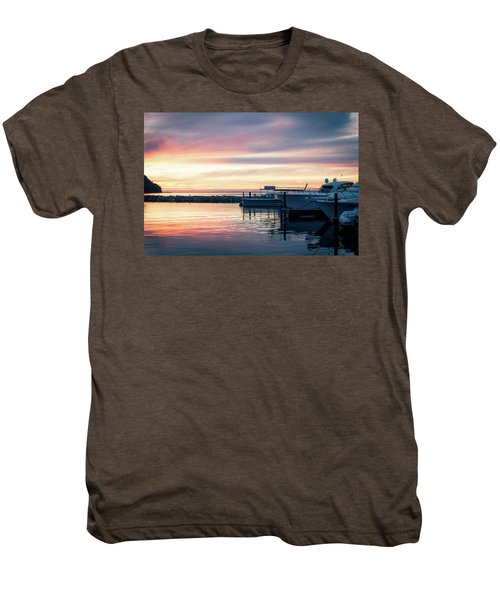 Sister Bay Marina At Sunset Men's Premium T-Shirt