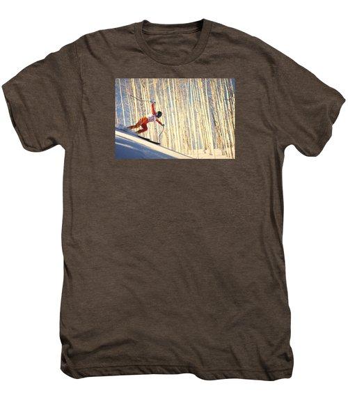 Skiing In Aspen, Colorado Men's Premium T-Shirt