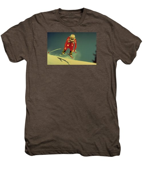 Skiing In Crans Montana Men's Premium T-Shirt
