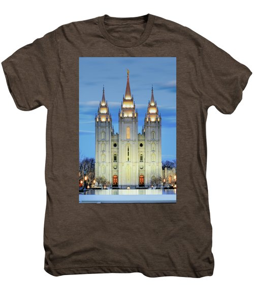 Slc Temple Blue Men's Premium T-Shirt
