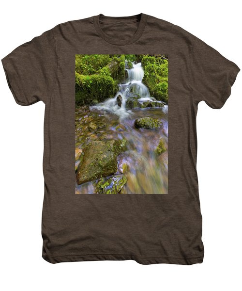 Small Waterfalls Along Wahkeena Creek Men's Premium T-Shirt