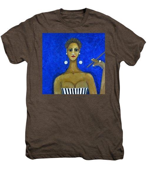 Smoking Woman 2 Men's Premium T-Shirt