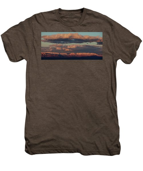 Snow Covered Red Rock Panorama Men's Premium T-Shirt