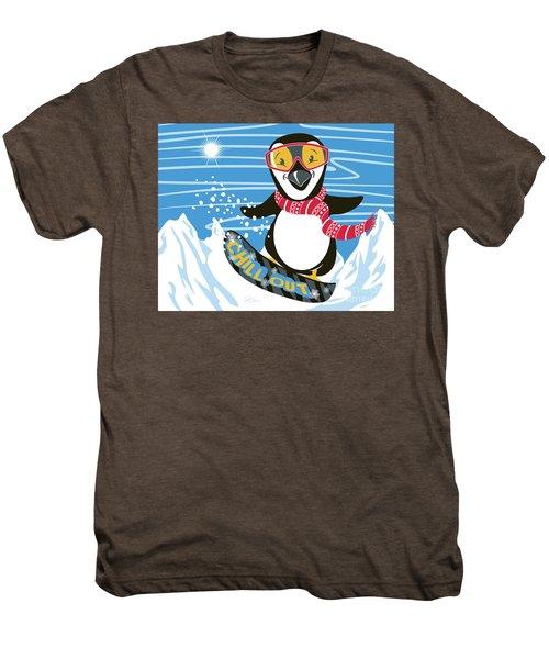Snowboarding Penguin Men's Premium T-Shirt