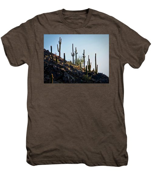 Sonoran Desert Saguaro Slope Men's Premium T-Shirt