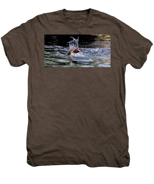 Splashing Humboldt Penguin Men's Premium T-Shirt