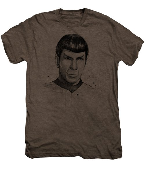 Spock Watercolor Portrait Men's Premium T-Shirt