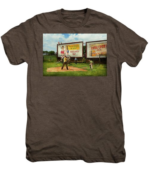 Sport - Baseball - America's Past Time 1943 Men's Premium T-Shirt by Mike Savad