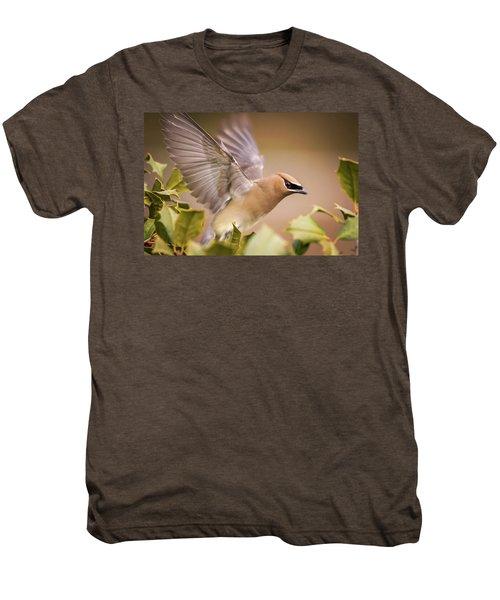 Spread Your Wings Cedar Waxwing  Men's Premium T-Shirt