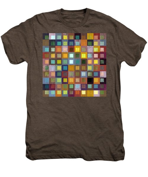 Men's Premium T-Shirt featuring the digital art Squares In Squares One by Michelle Calkins