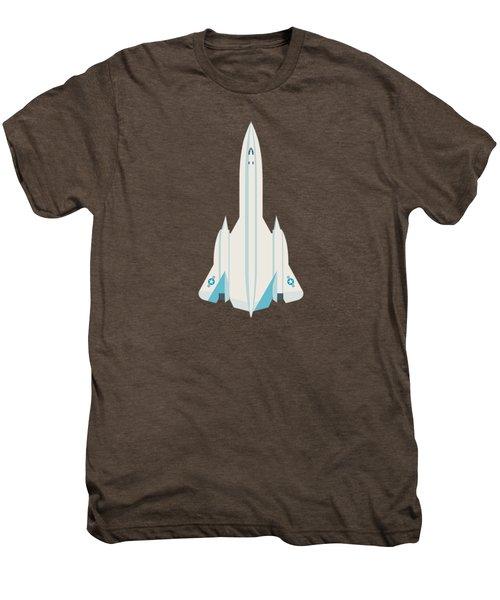 Sr-71 Blackbird Jet Aircraft - Crimson Men's Premium T-Shirt