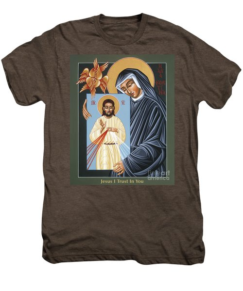 St Faustina Kowalska Apostle Of Divine Mercy 094 Men's Premium T-Shirt