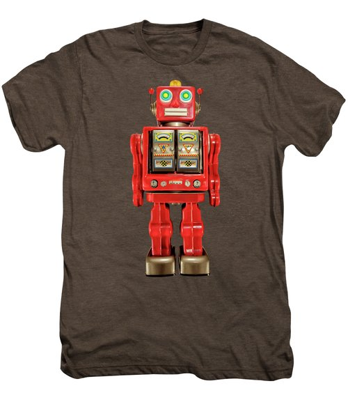 Star Strider Robot Red On Black Men's Premium T-Shirt by YoPedro