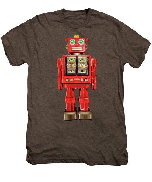 Star Strider Robot Red On Black Men's Premium T-Shirt