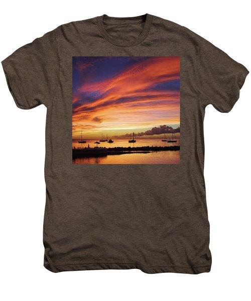 Store Bay, Tobago At Sunset #view Men's Premium T-Shirt