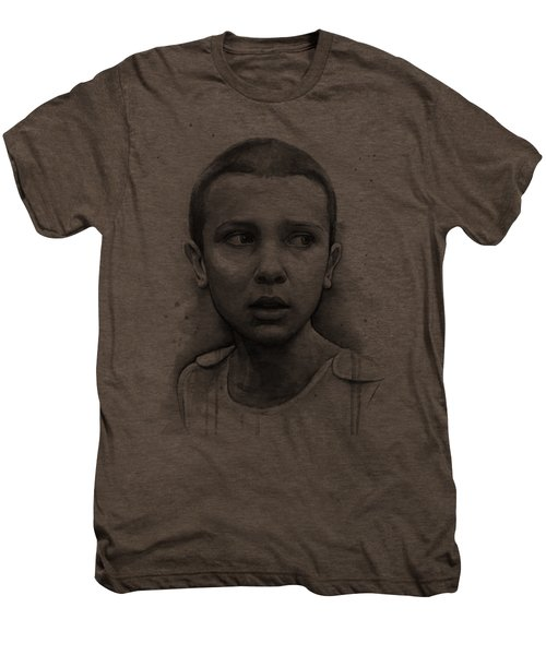 Stranger Things Eleven Upside Down Art Portrait Men's Premium T-Shirt