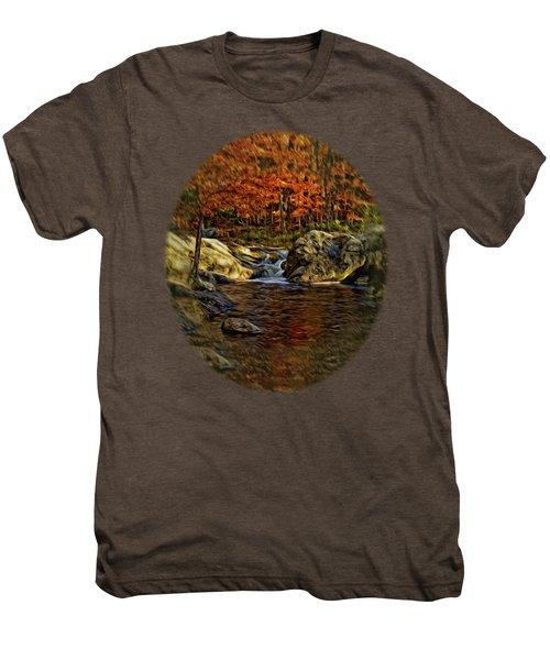 Stream In Autumn 57 In Oil Men's Premium T-Shirt