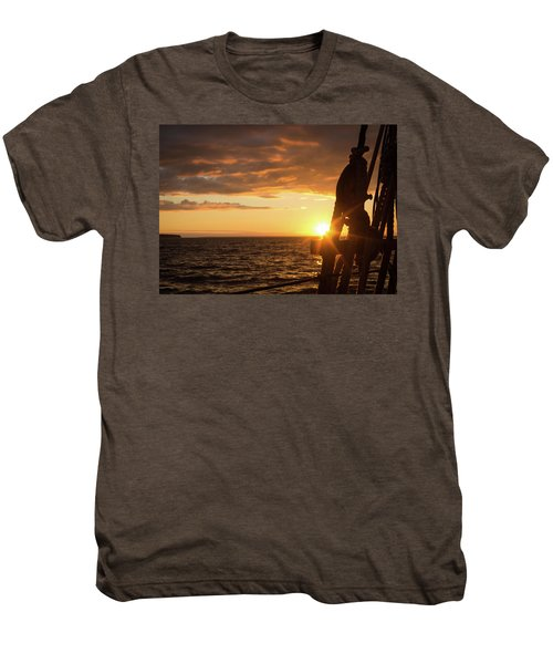 Sun On The Horizon Men's Premium T-Shirt