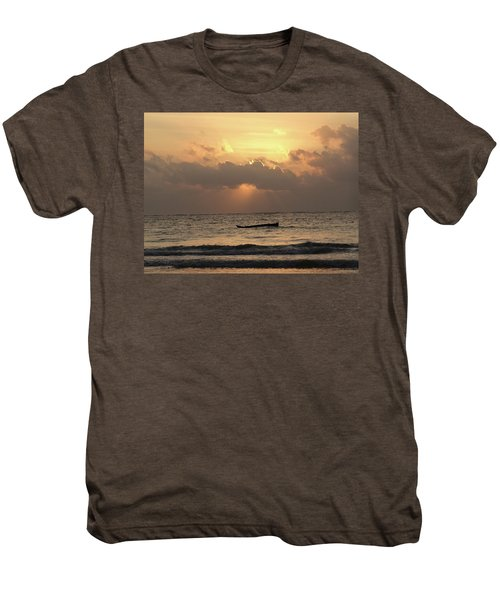 Sun Rays On The Water With Wooden Dhows Men's Premium T-Shirt