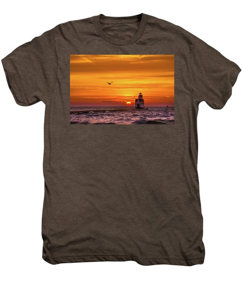 Men's Premium T-Shirt featuring the photograph Sunrise Solo by Bill Pevlor