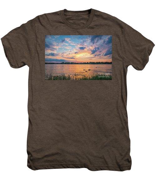 Sunset At Morse Lake Men's Premium T-Shirt