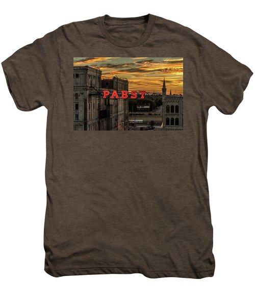 Sunset At The Brewery Men's Premium T-Shirt by Randy Scherkenbach
