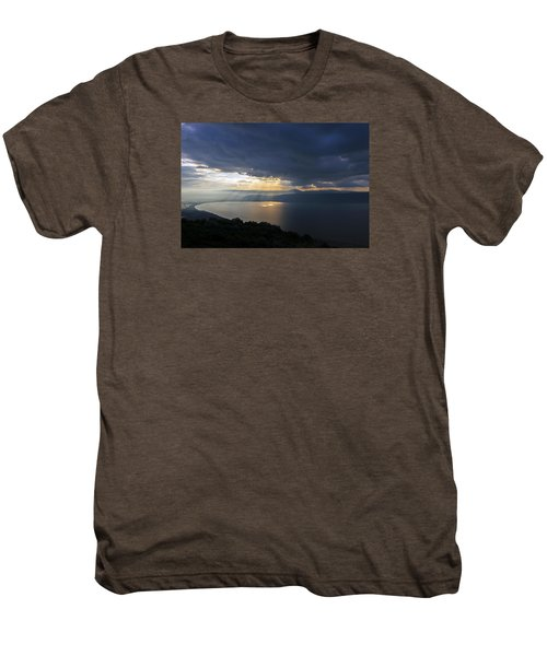 Sunset Over The Sea Of Galilee Men's Premium T-Shirt