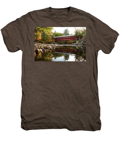 Swift River Covered Bridge Men's Premium T-Shirt