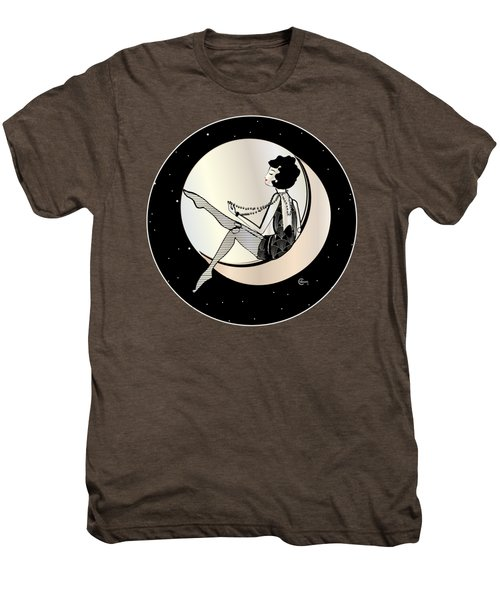 Swinging On The Moon Men's Premium T-Shirt