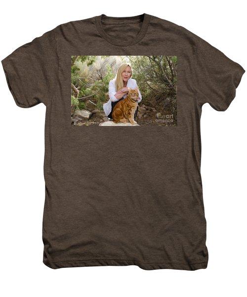 Tabasco And Molly On Meditation Rock Men's Premium T-Shirt