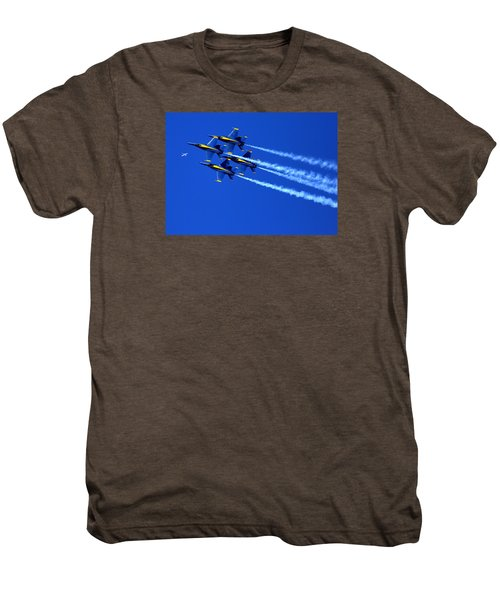 Thanks Goodness For That Fourth Dimension As A Boeing 767 Transitions Above The Box. Men's Premium T-Shirt