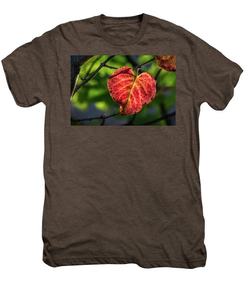 Men's Premium T-Shirt featuring the photograph The Autumn Heart by Bill Pevlor
