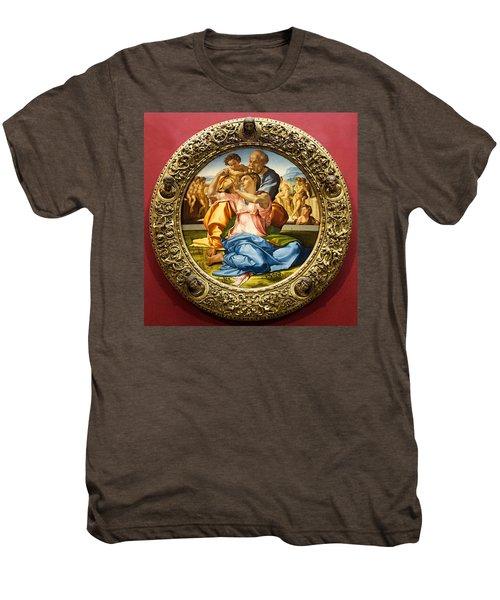 The Holy Family - Doni Tondo - Michelangelo Men's Premium T-Shirt