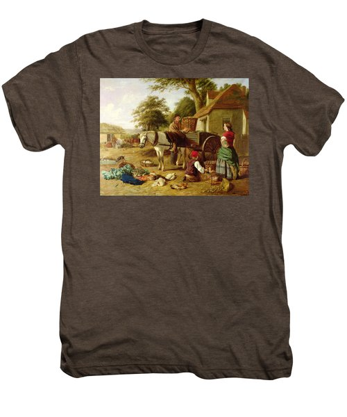 The Market Cart Men's Premium T-Shirt by Henry Charles Bryant