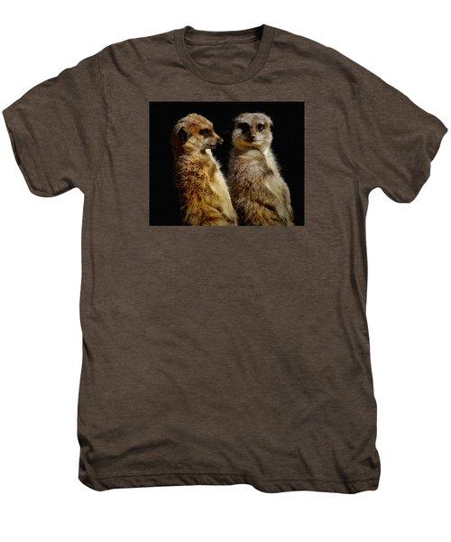 The Meerkats Men's Premium T-Shirt by Ernie Echols