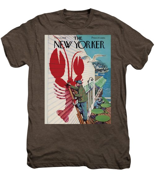 The New Yorker Cover - March 22nd, 1958 Men's Premium T-Shirt