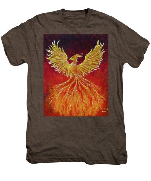 The Phoenix Men's Premium T-Shirt by Teresa Wing
