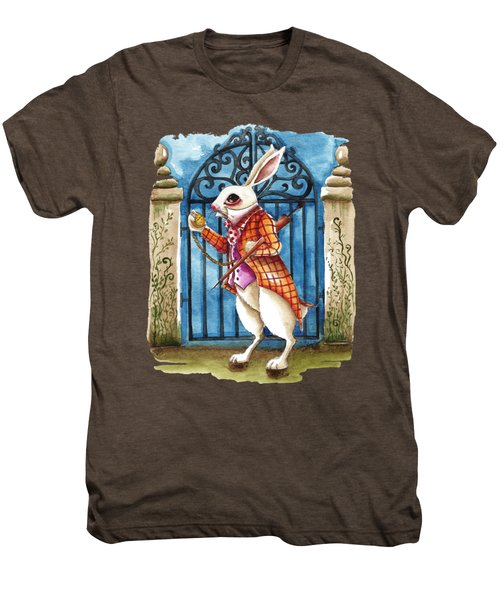 The White Rabbit Late Again Men's Premium T-Shirt
